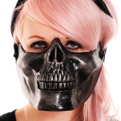 maska POIZEN INDUSTRIES - Skull - Black