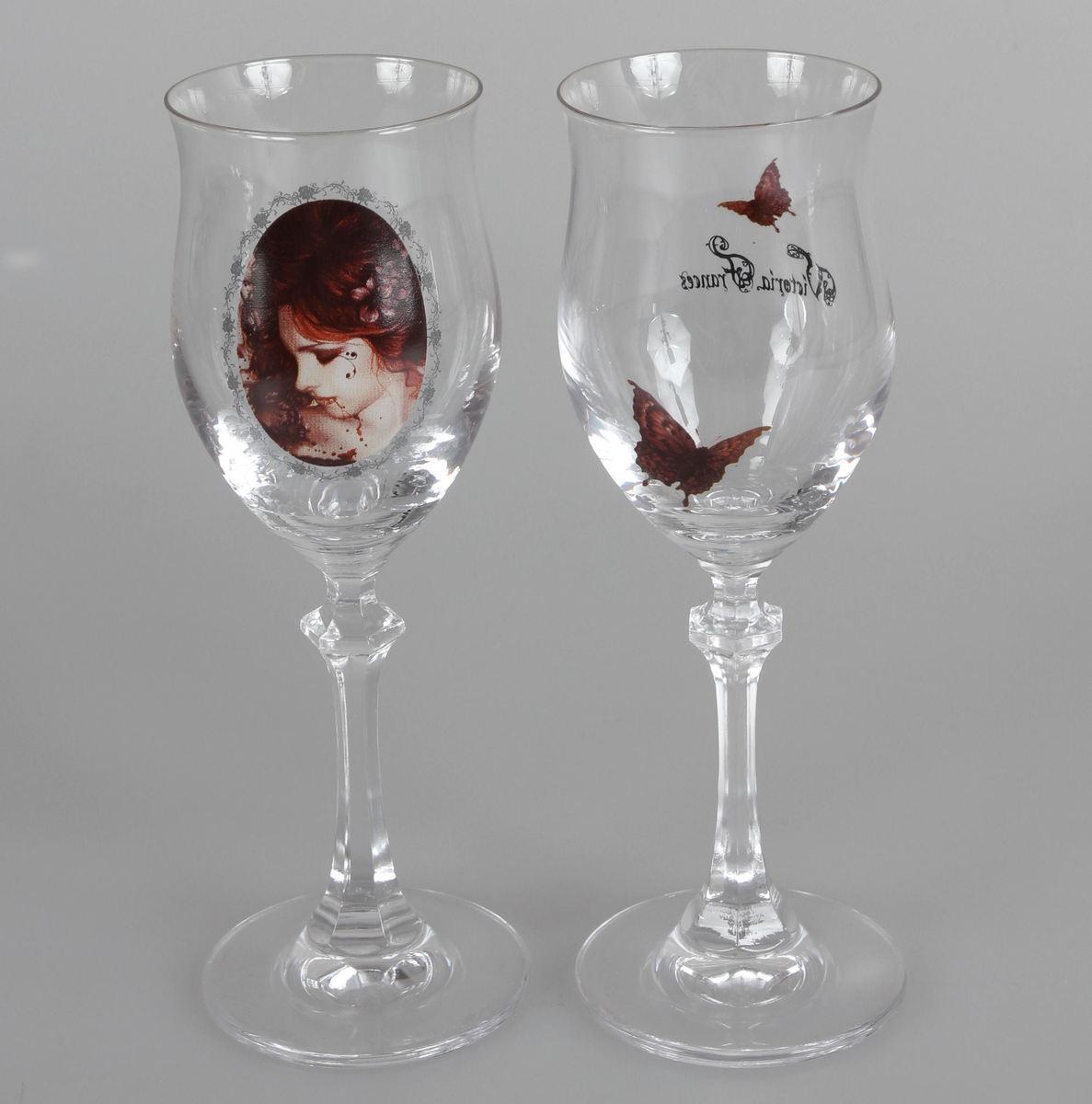 sklenice (sada 2 kusů) Victoria Frances - Butterfly U. Butterfly - 10540400