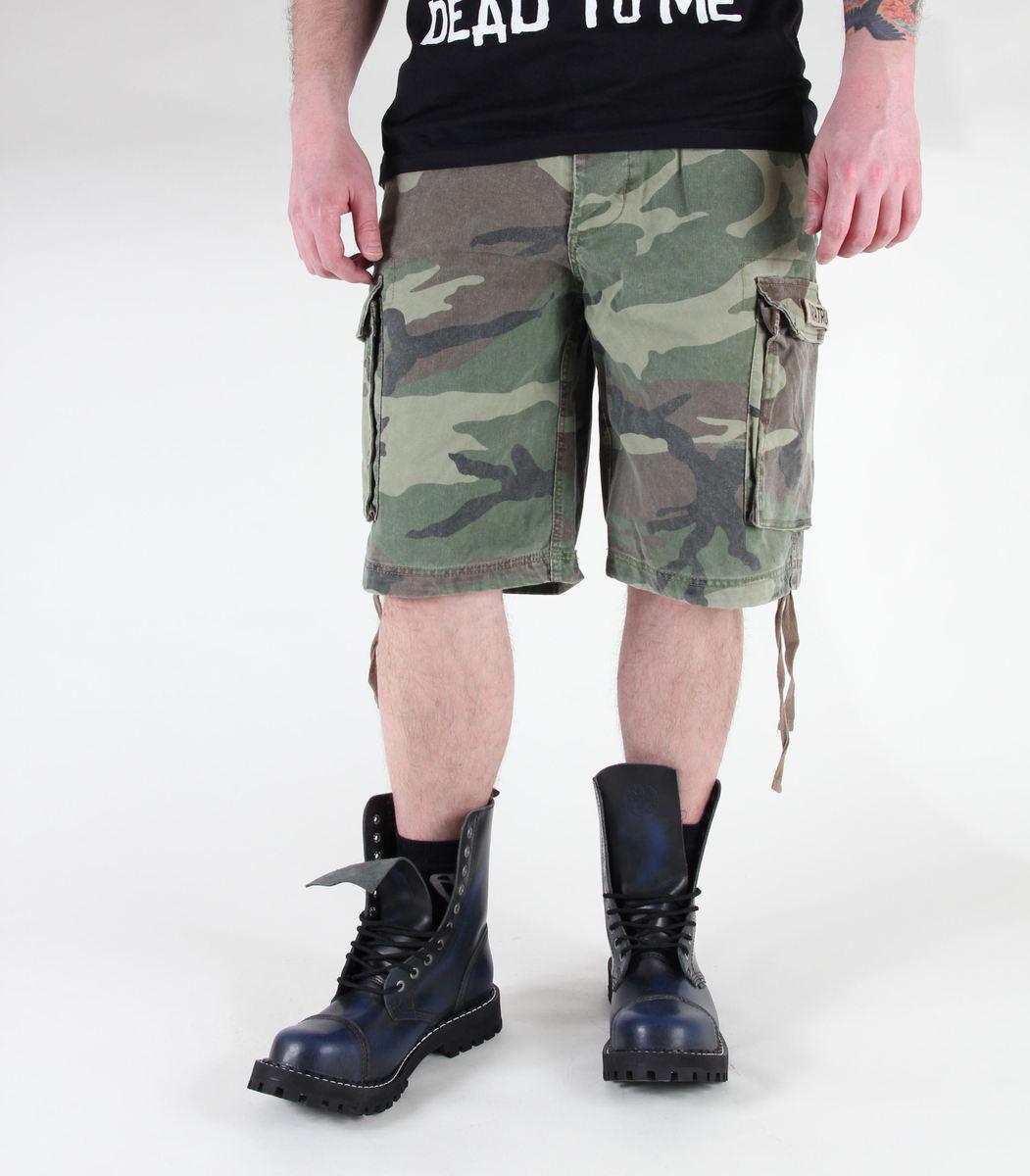 kraťasy pánské MIL-TEC - Paratrooper - Prewash Woodland - 11403020