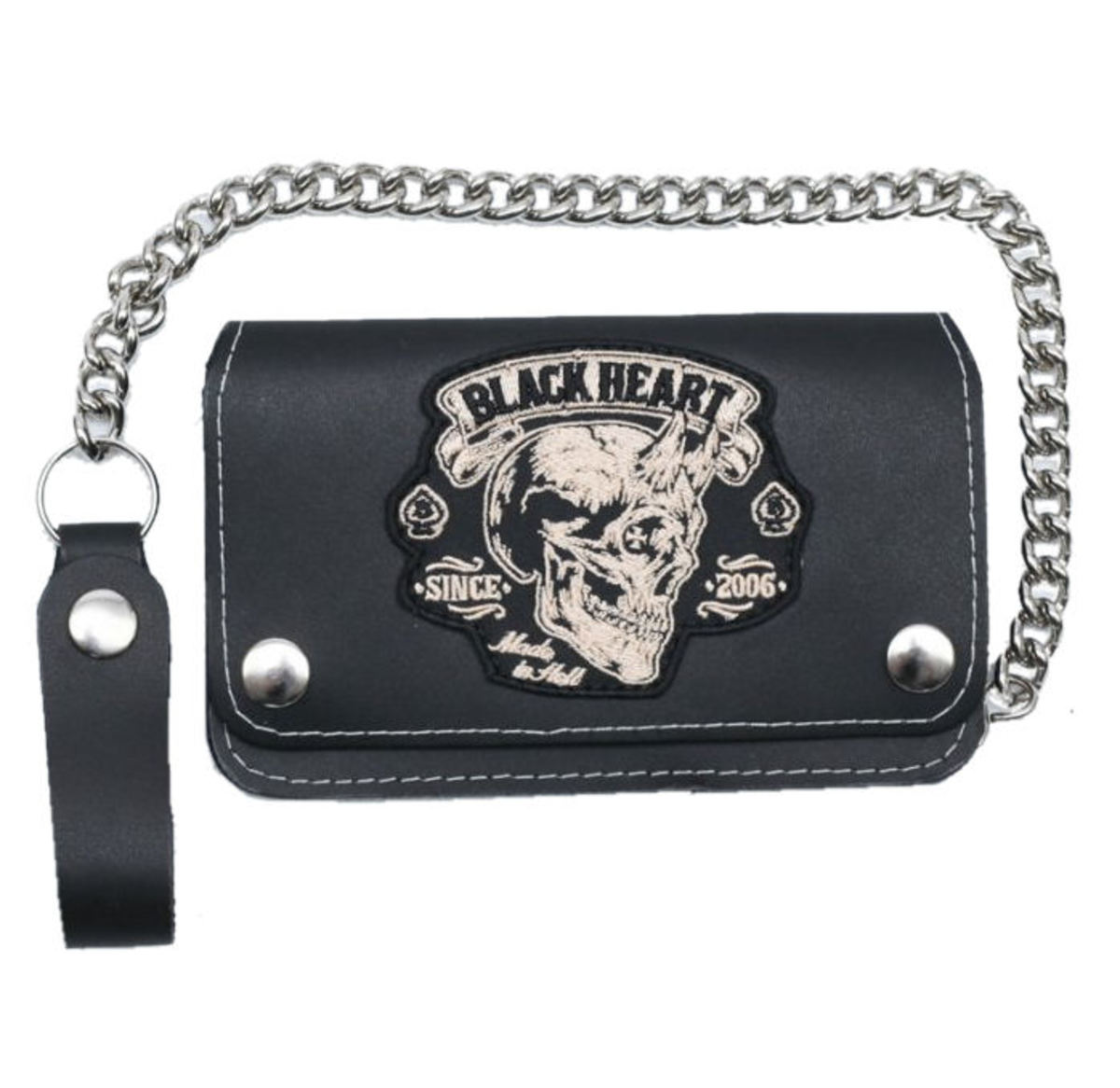 peněženka BLACK HEART - DEVIL - BLACK - 023-0015-BLK