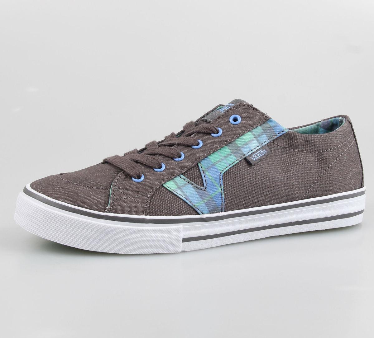boty dámské VANS - Tory (Plaid) - Grey/Turquoise - VOK670A