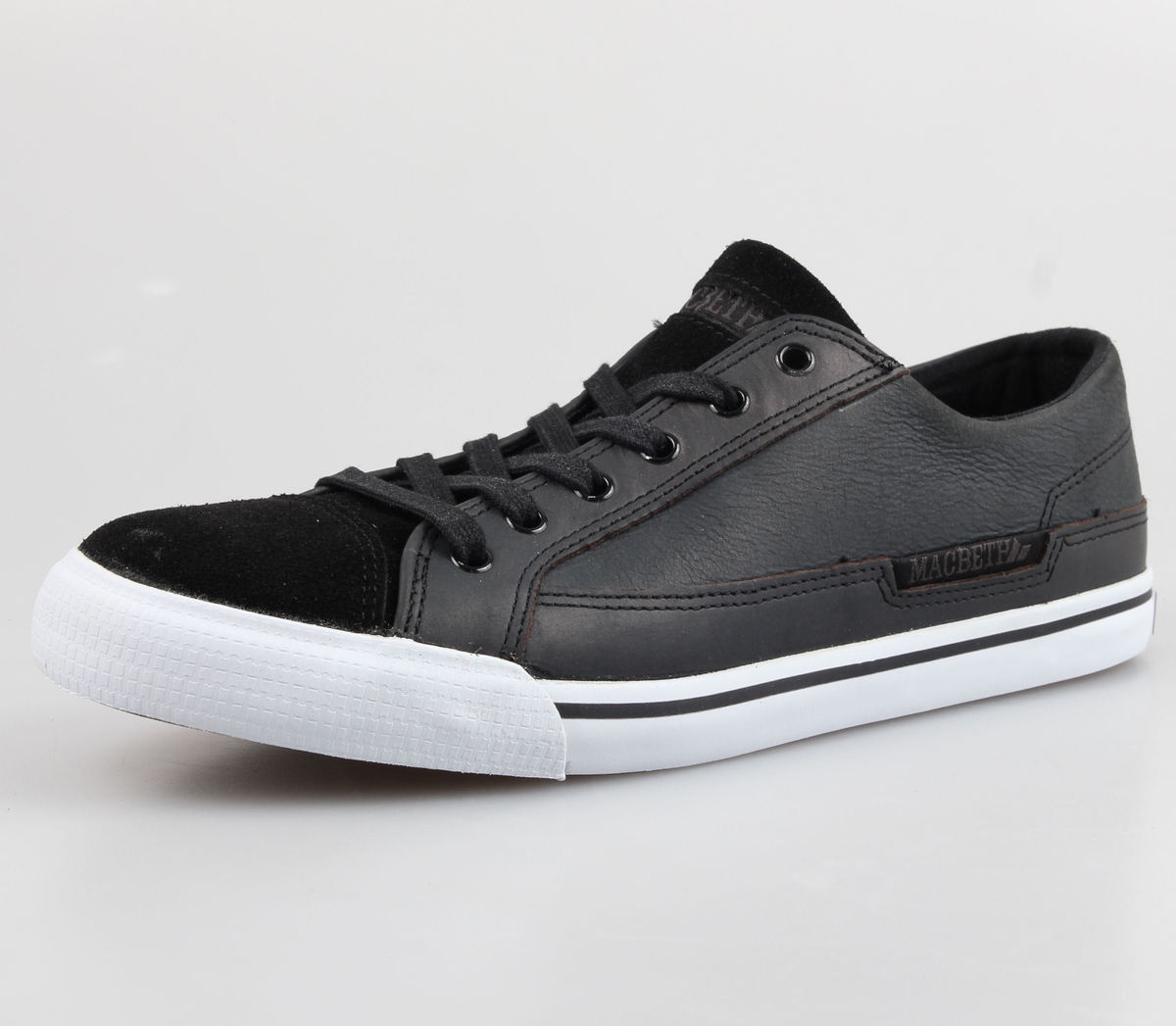 boty MACBETH - Matthew (č.2) - Black/White Suede&Nubuck
