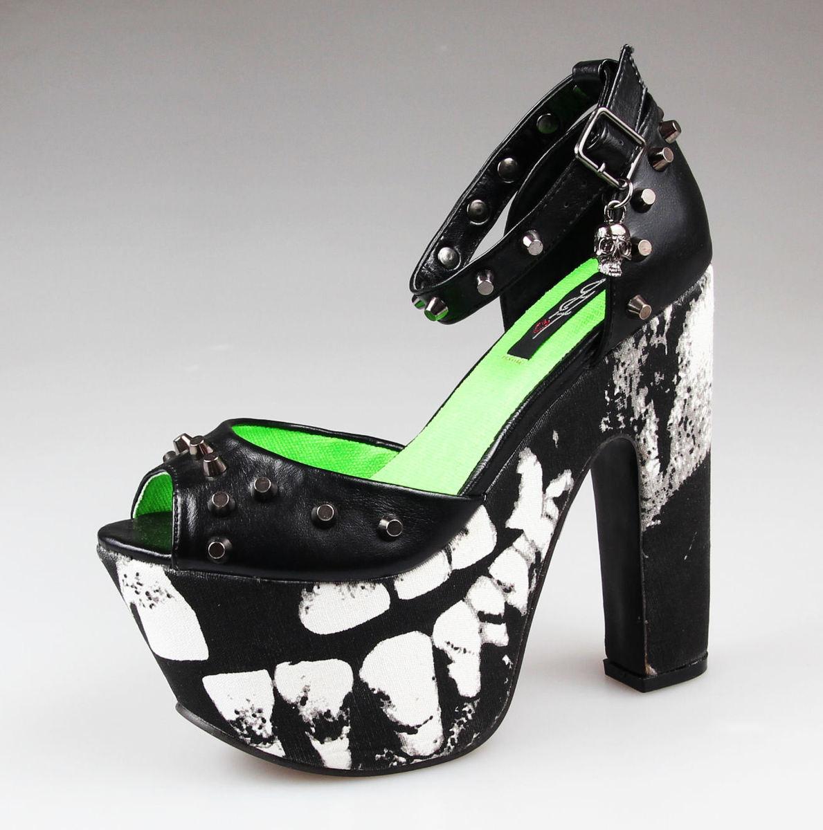 boty dámské -střevíce- IRON FIST - Loose Tooth Super Platform - BLACK