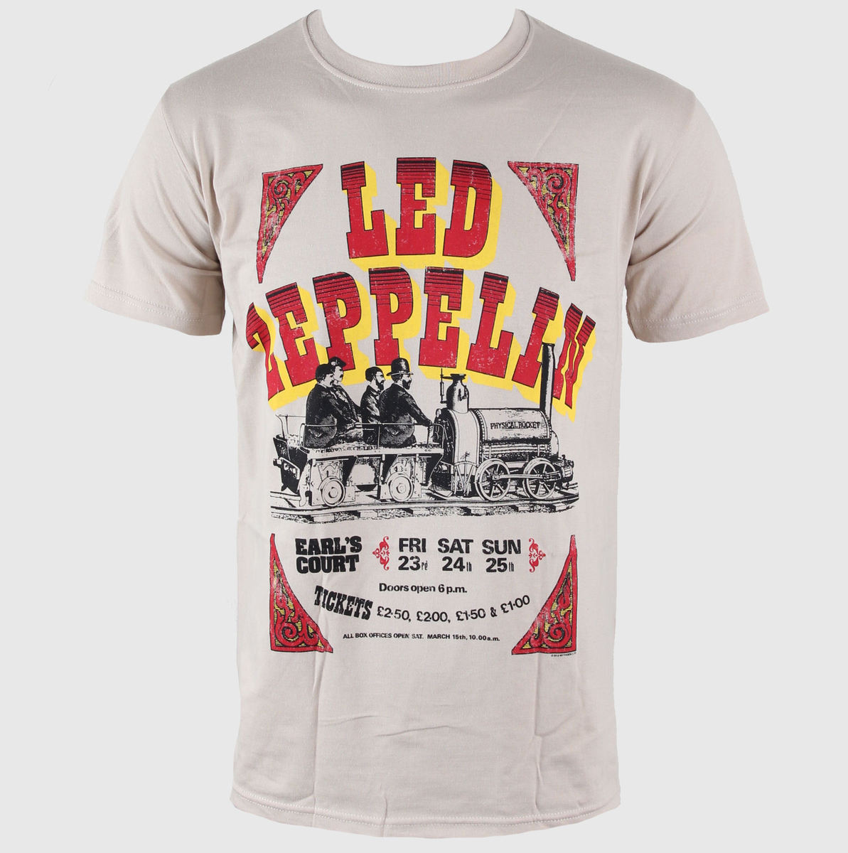 tričko pánské Led Zeppelin - Earls Court Tickets - LIVE NATION - RTLZE0520