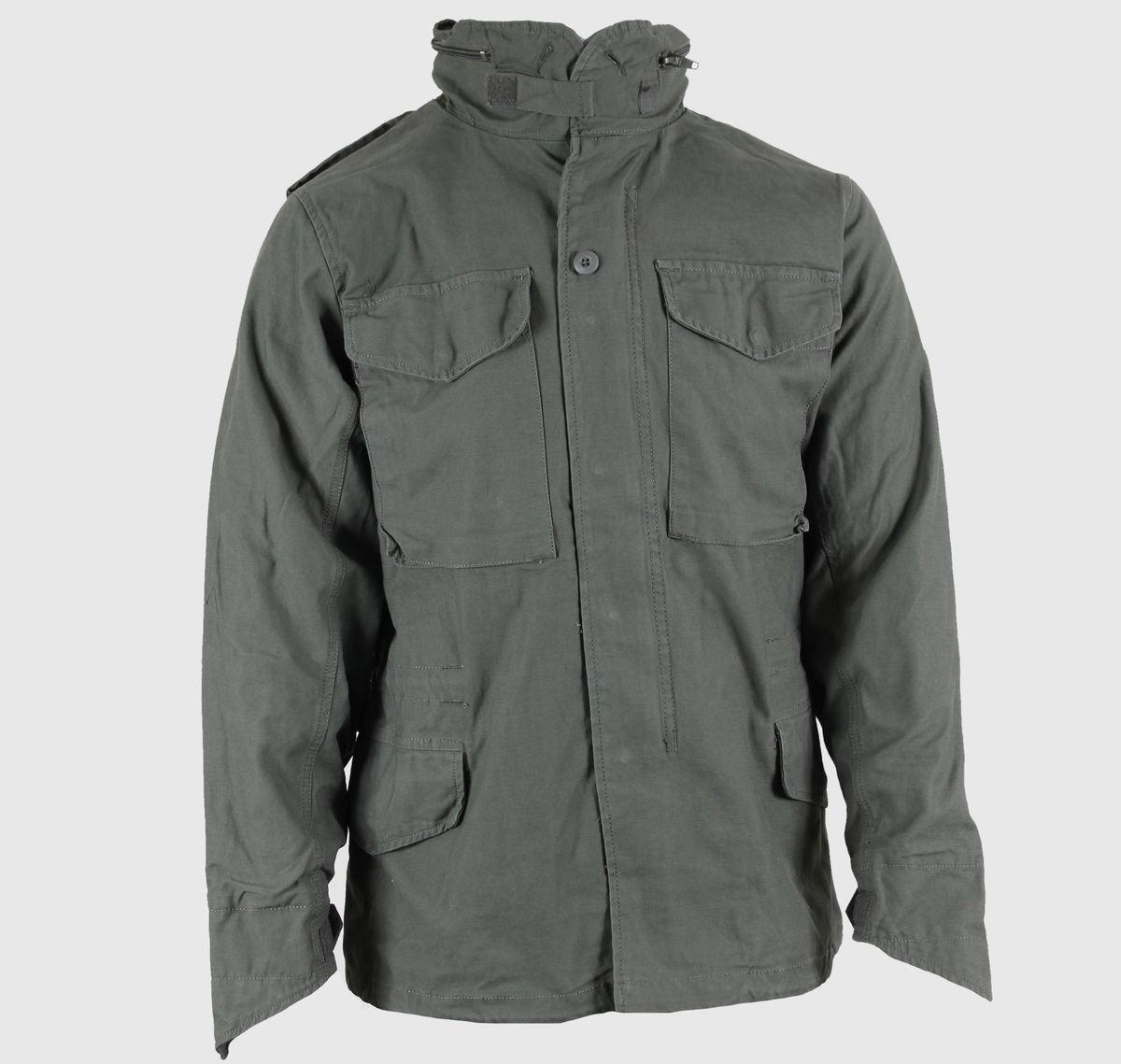 bunda pánská jarně-podzimní M65 Fieldjacket NYCO washed - OLIV - 100304