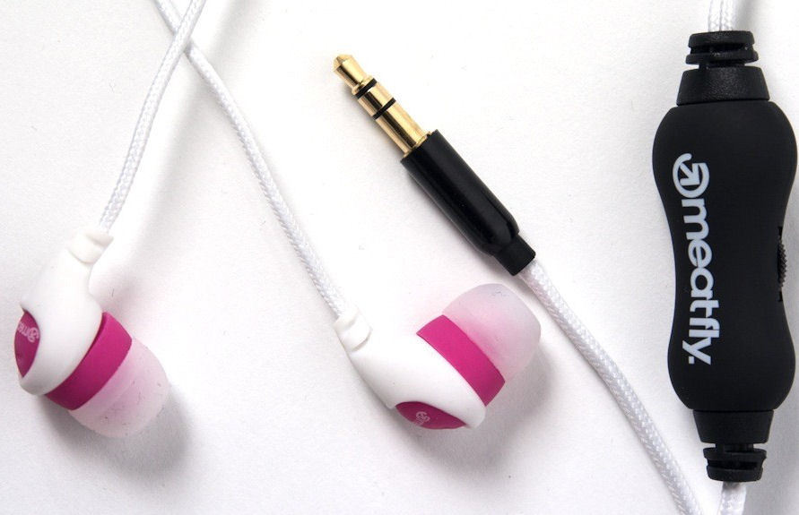 sluchátka MEATFLY - Jimmy Earphones C - White/Pink