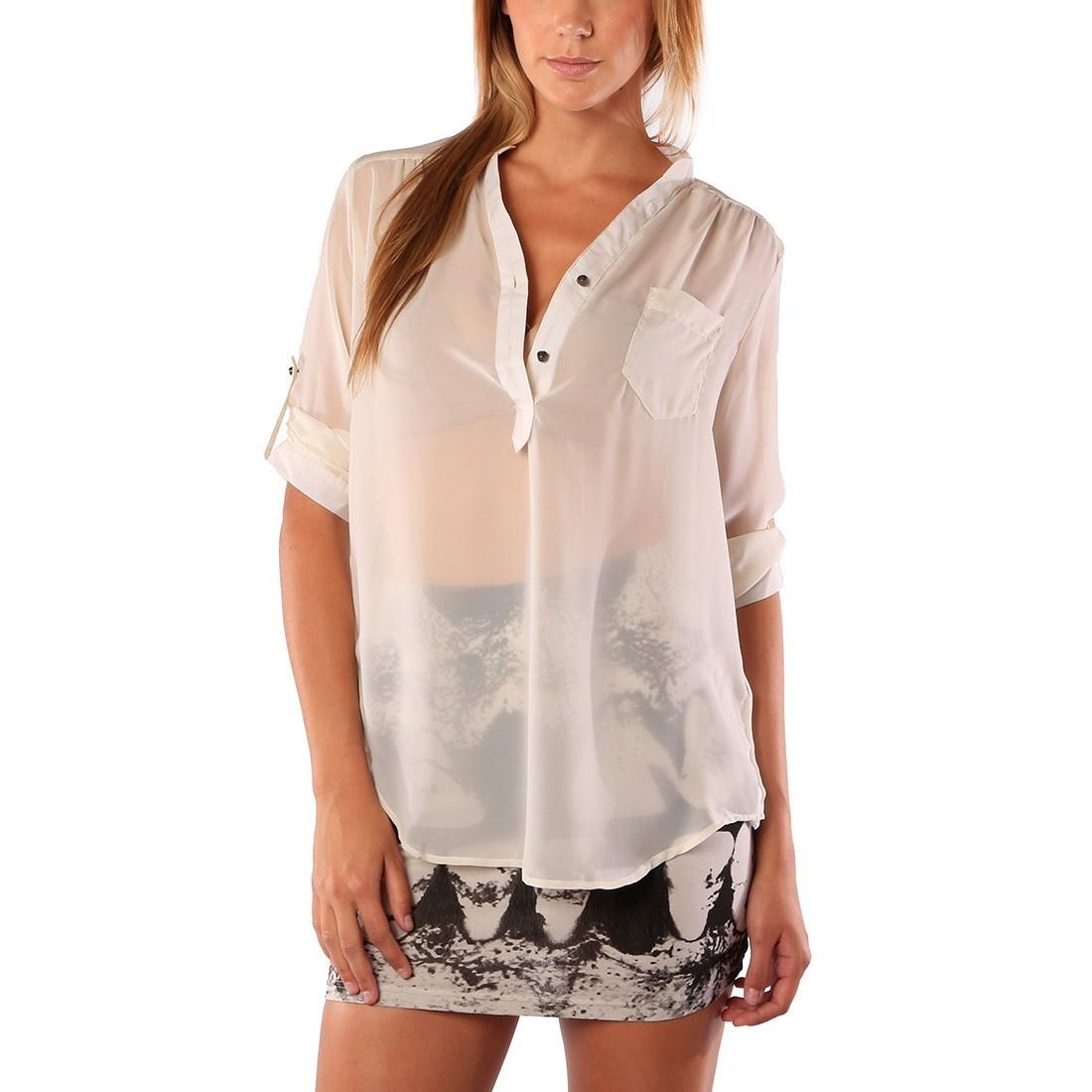 košile dámská IRON FIST - Spineless - Nude