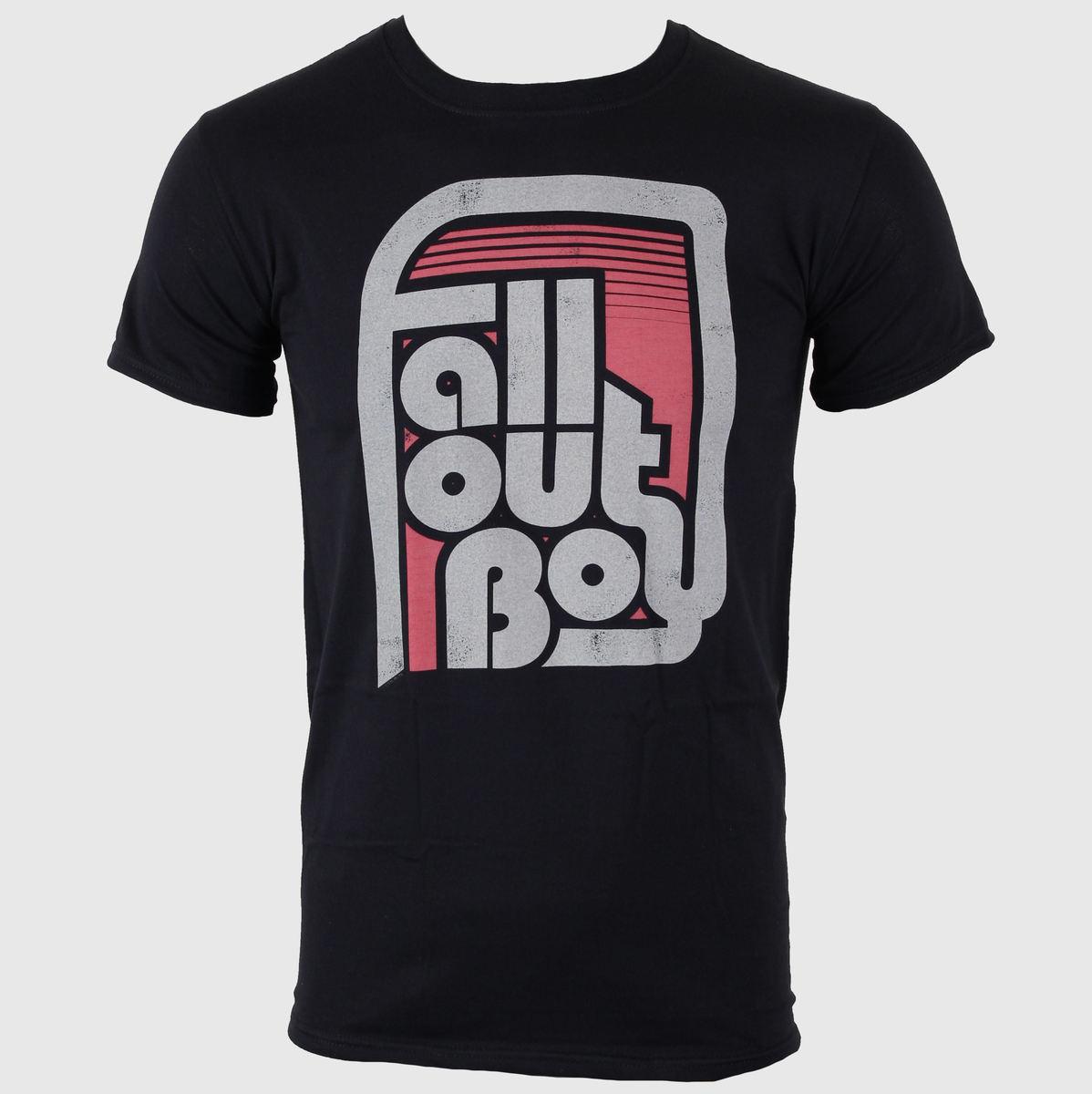 tričko pánské Fall Out Boy - Retro Black - LIVE NATION - PE10259TSB