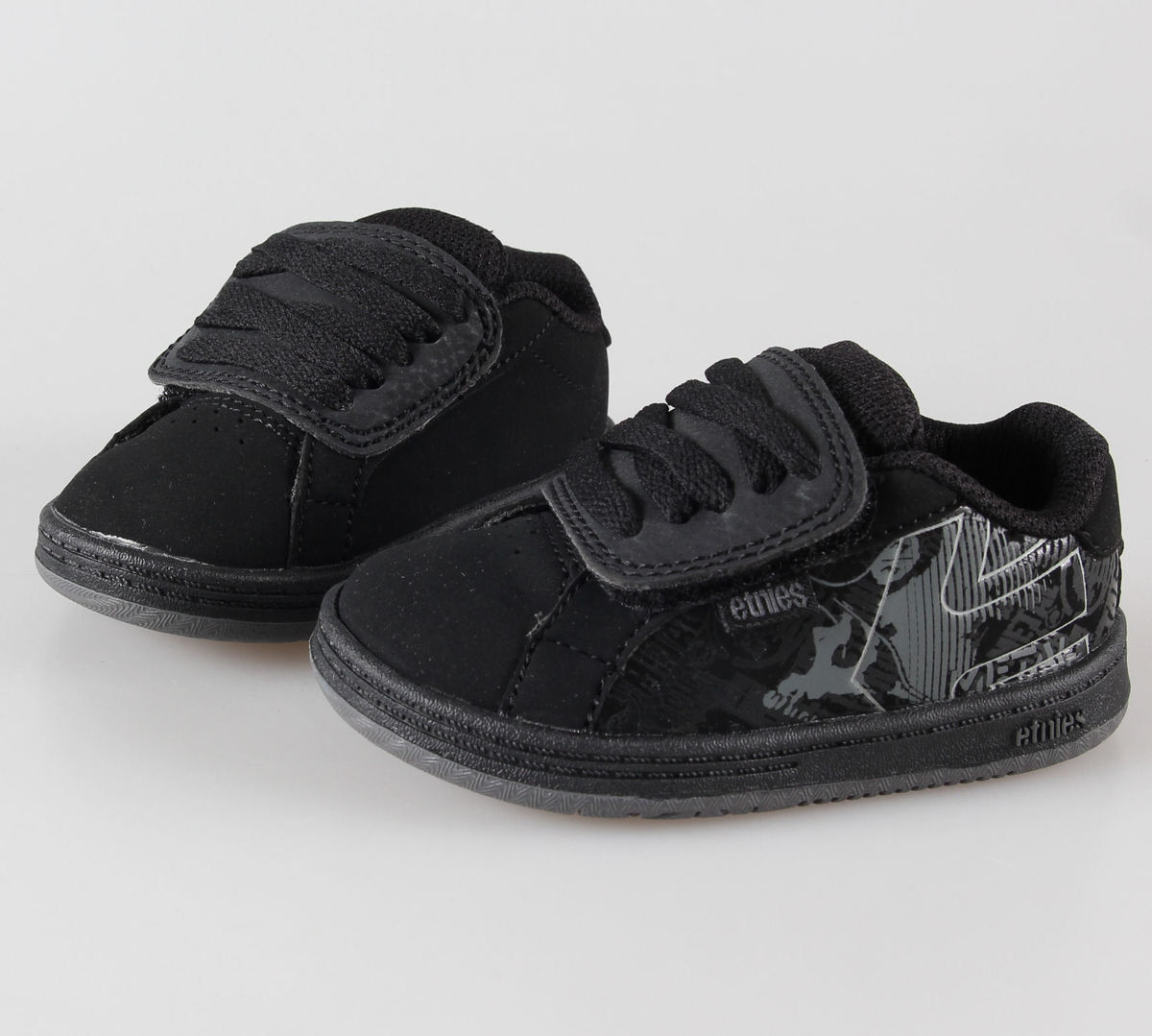 boty dětské ETNIES - Toddler Metal Mulisha Fader - Black/Dark Grey/Grey