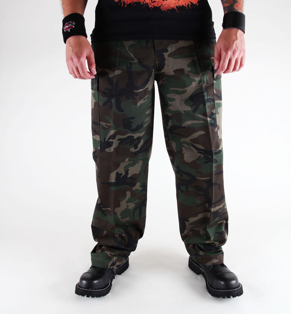 kalhoty pánské BRANDIT - US Ranger Hose Woodland - 1006/10