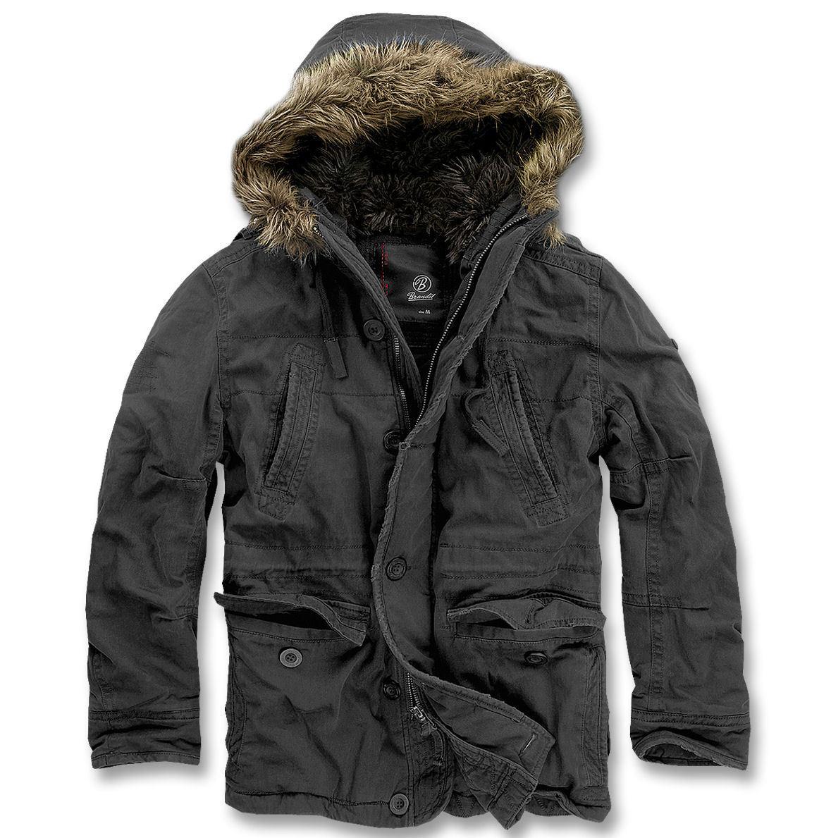 bunda pánská zimní BRANDIT - Vintage Explorer Black - 3120/2