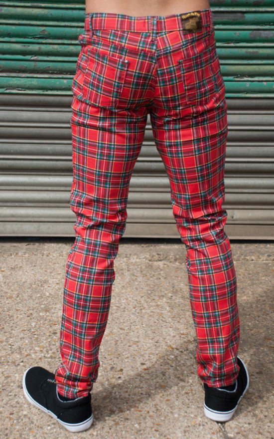 kalhoty pánské 3RDAND56th - Tartan Skinny Jeans - Ud Tartan - JM1106