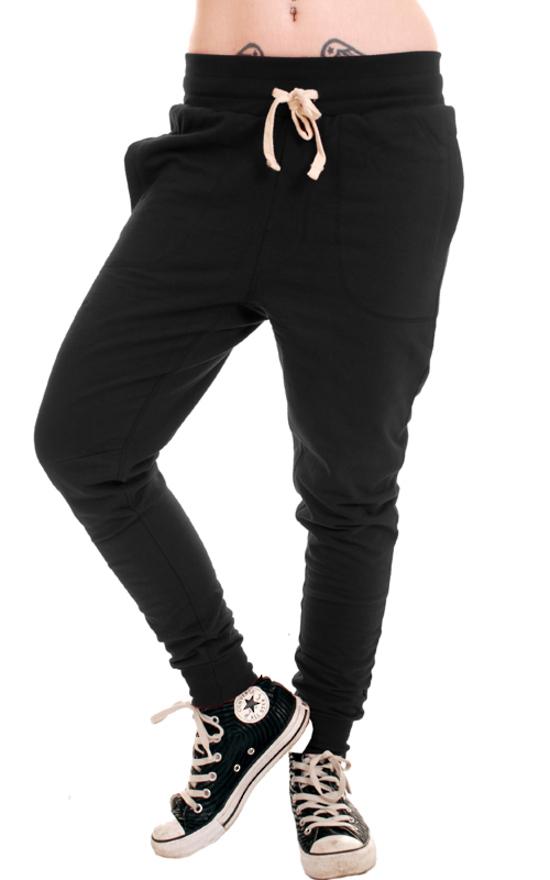 kalhoty unisex (tepláky) 3RDAND56th - Carrot Fit Jogger - Black - JM1008