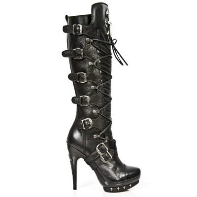 boty NEW ROCK - PUNK062-S1 - NOMADA NEGRO