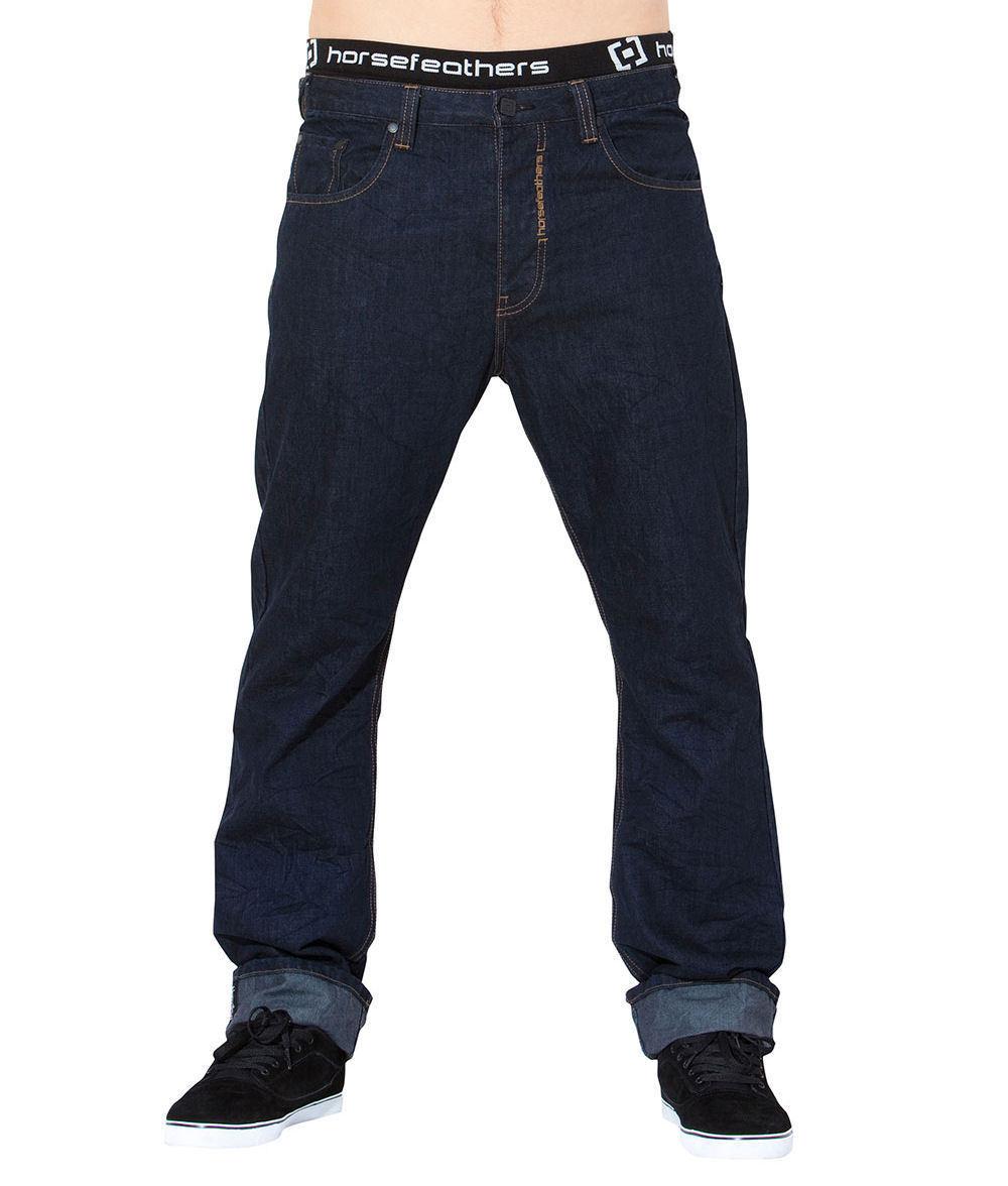 kalhoty pánské -jeansy- HORSEFEATHERS - Ground
