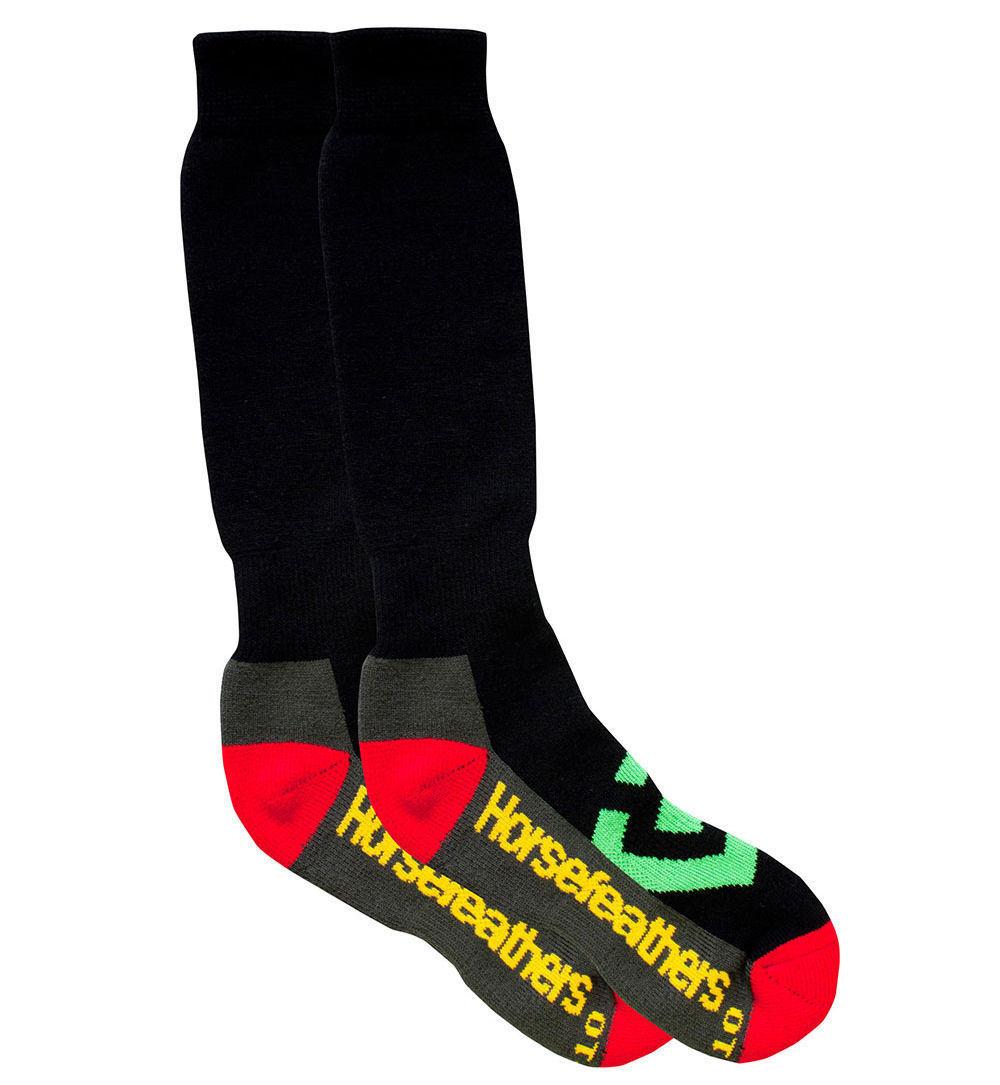 ponožky -podkolenka SNB- HORSEFEATHERS - Loby Snow - RASTA
