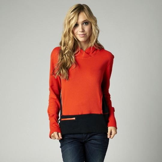 mikina dámská FOX - Enhance - Orange Flame