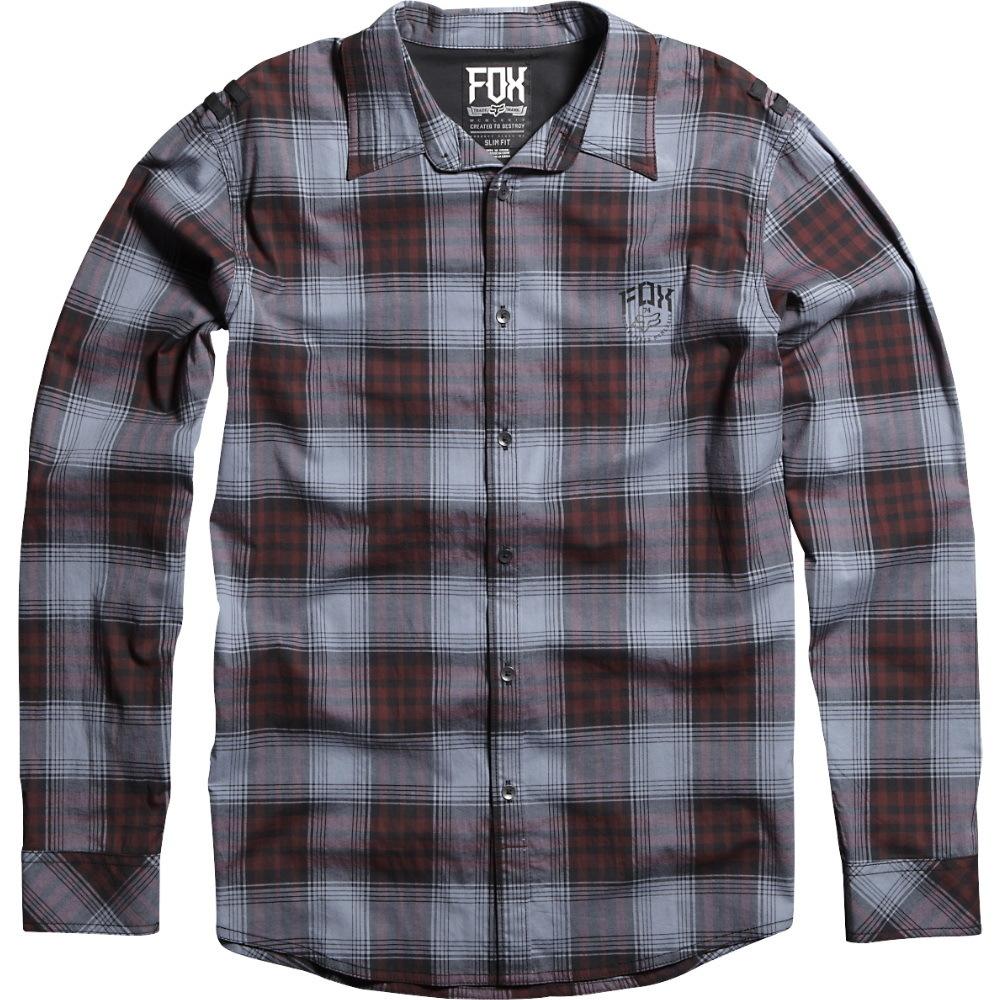 košile pánská FOX - Mercer - Burgundy