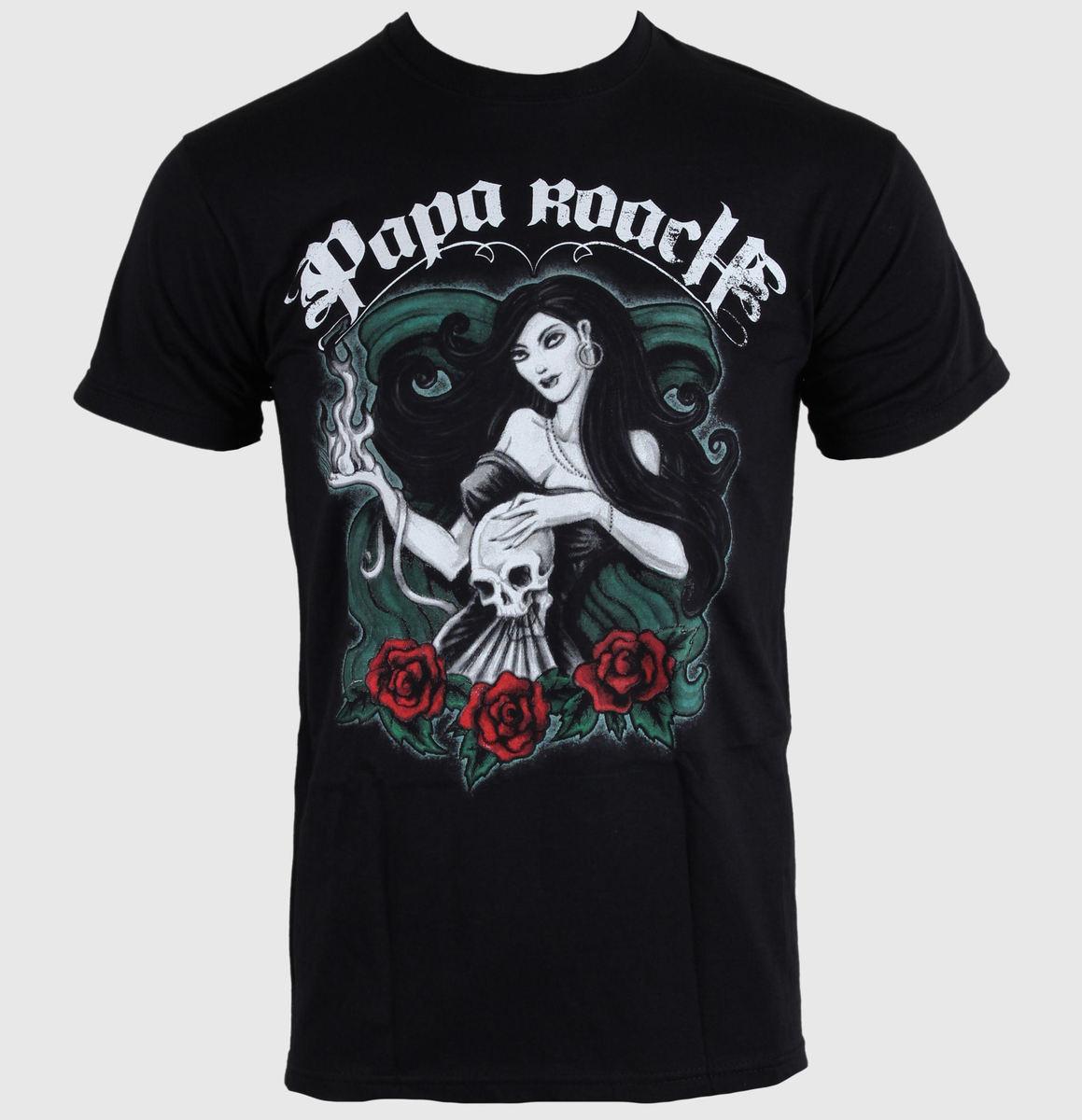 tričko pánské Papa Roach - Bruja - ROCK OFF - PRTEE03MB