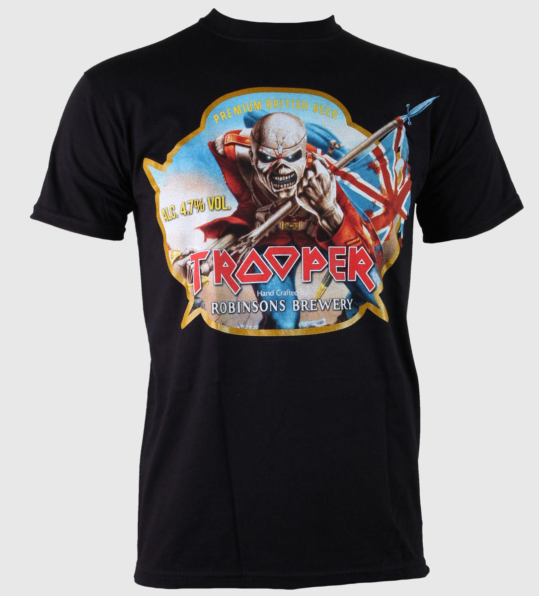 tričko pánské Iron Maiden - Trooper Robinsons Beer - ROCK OFF - IMTEE28MB0