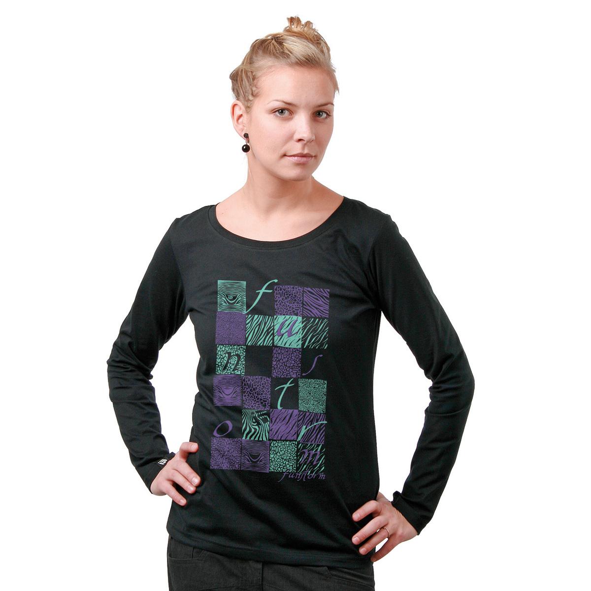 tričko dámské s dlouhým rukávem FUNSTORM - Lyn - 21 BLACK