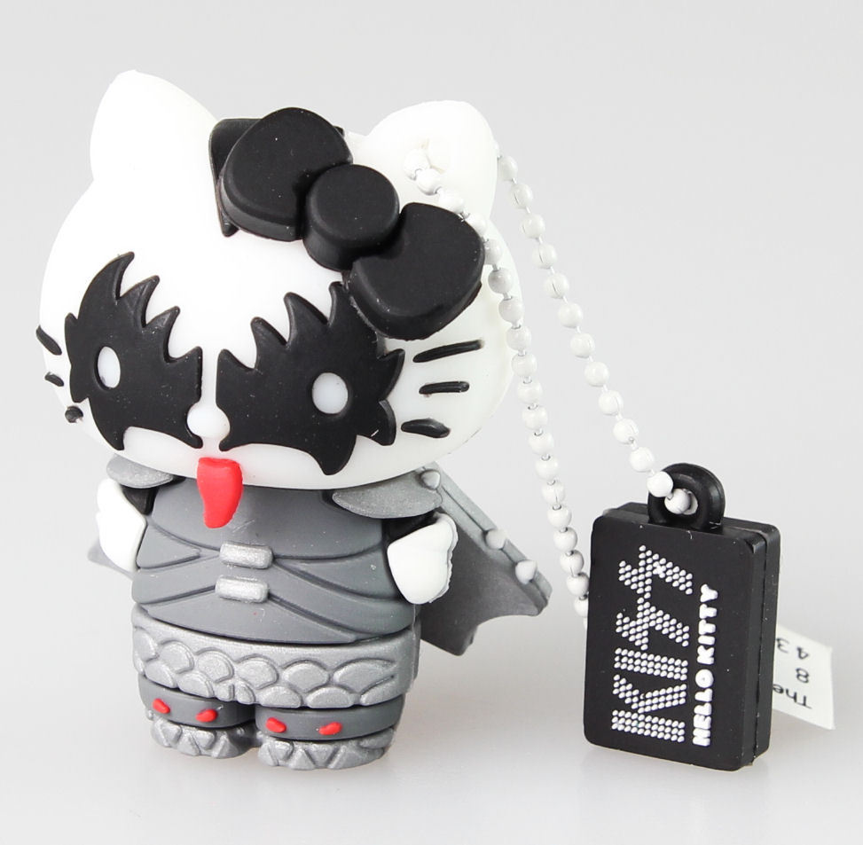 flash disc USB 8GB (přívěšek) KISS - HELLO KITTY - The Demon - 23993
