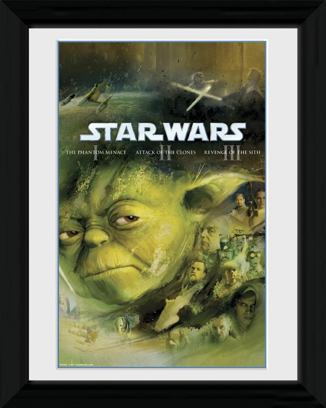 plakát + rám Star Wars - Blu Ray Prequel - PFC280