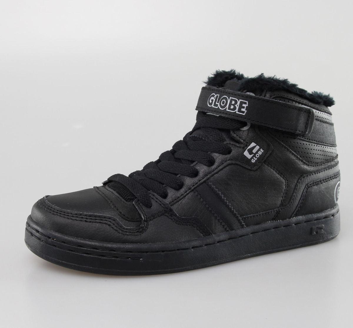 boty pánské zimní GLOBE - Superfly - Black Distressed Fur