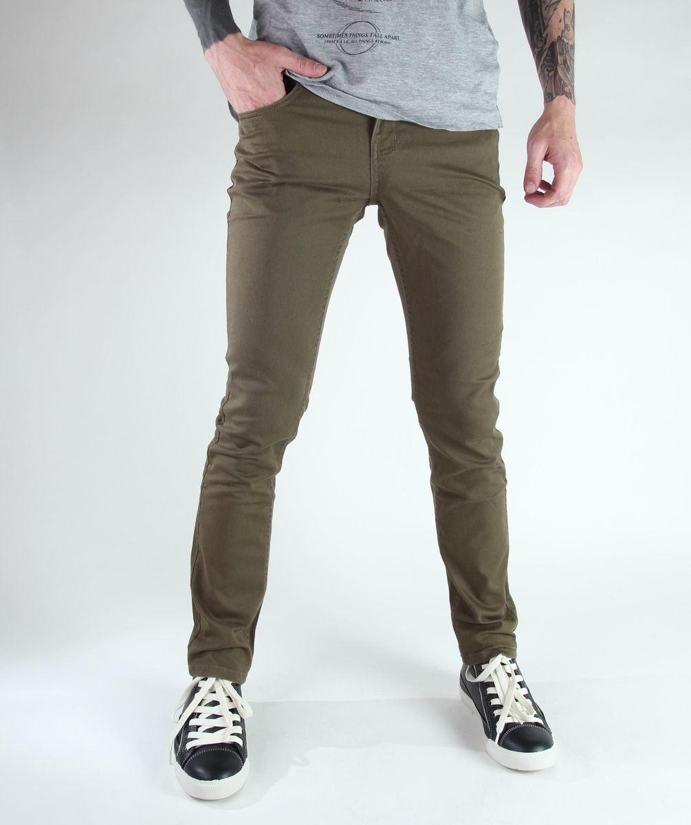 kalhoty pánské GLOBE - Goodstock skinny - Field Green