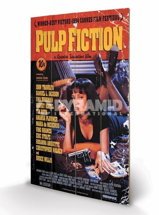 dřevěný obraz Pulp Fiction - Cover - PYRAMID POSTERS - LW10497P