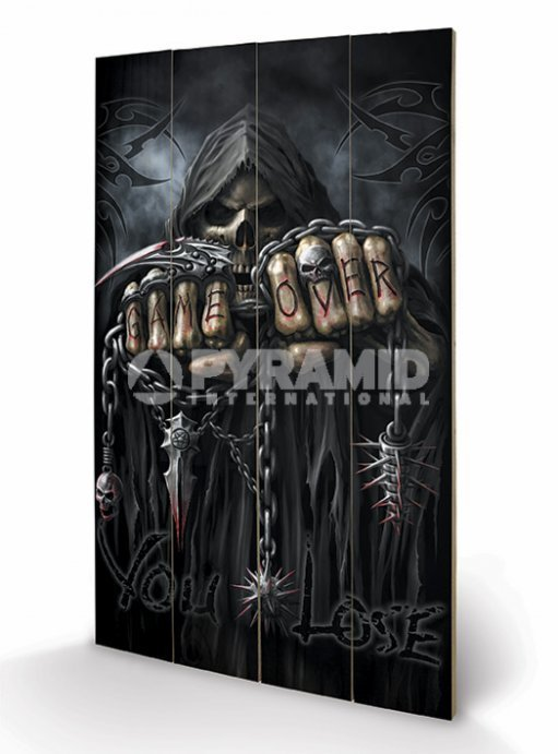 dřevěný obraz Spiral - Game Over - Reaper - PYRAMID POSTERS - LW10641P