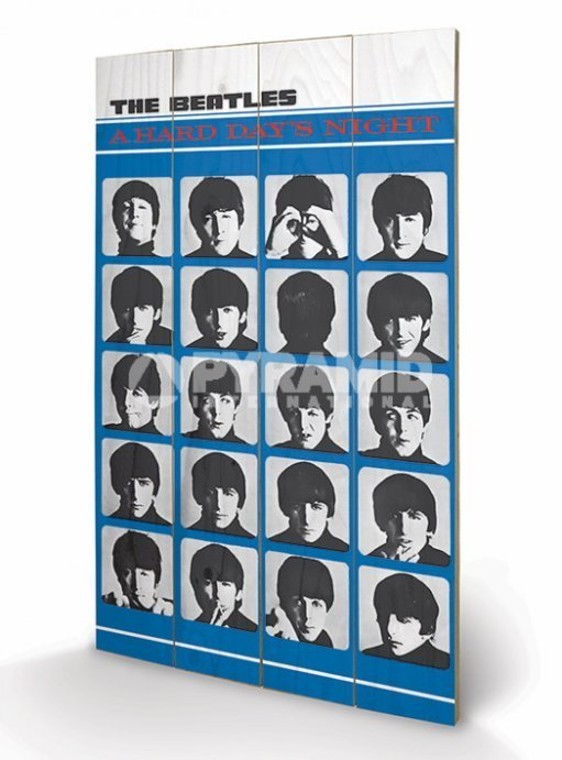 dřevěný obraz The Beatles - A Hard Days Night - PYRAMID POSTERS - LW10956P