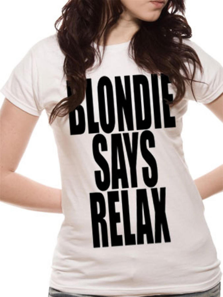 LIVE NATION Blondie Says Relax bílá