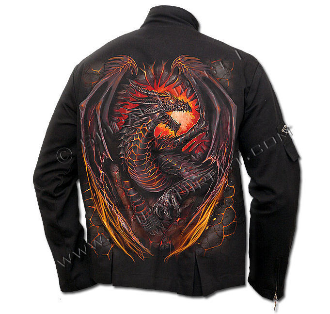 bunda pánská SPIRAL - Dragon Furnace - Black - L016M652