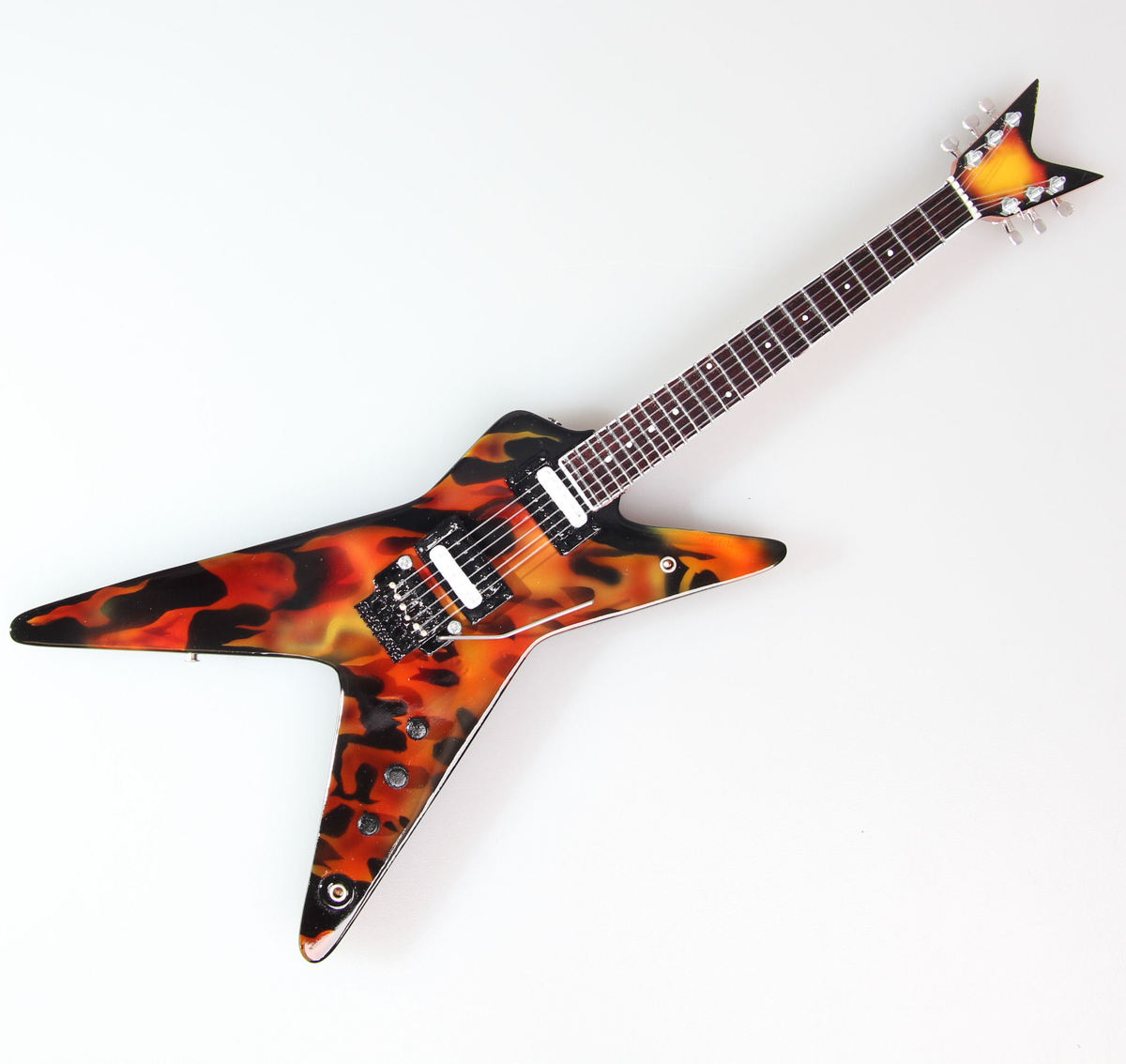 kytara Pantera - Dimebag Darrell - Flame - MINI GUITAR USA - DD Fire