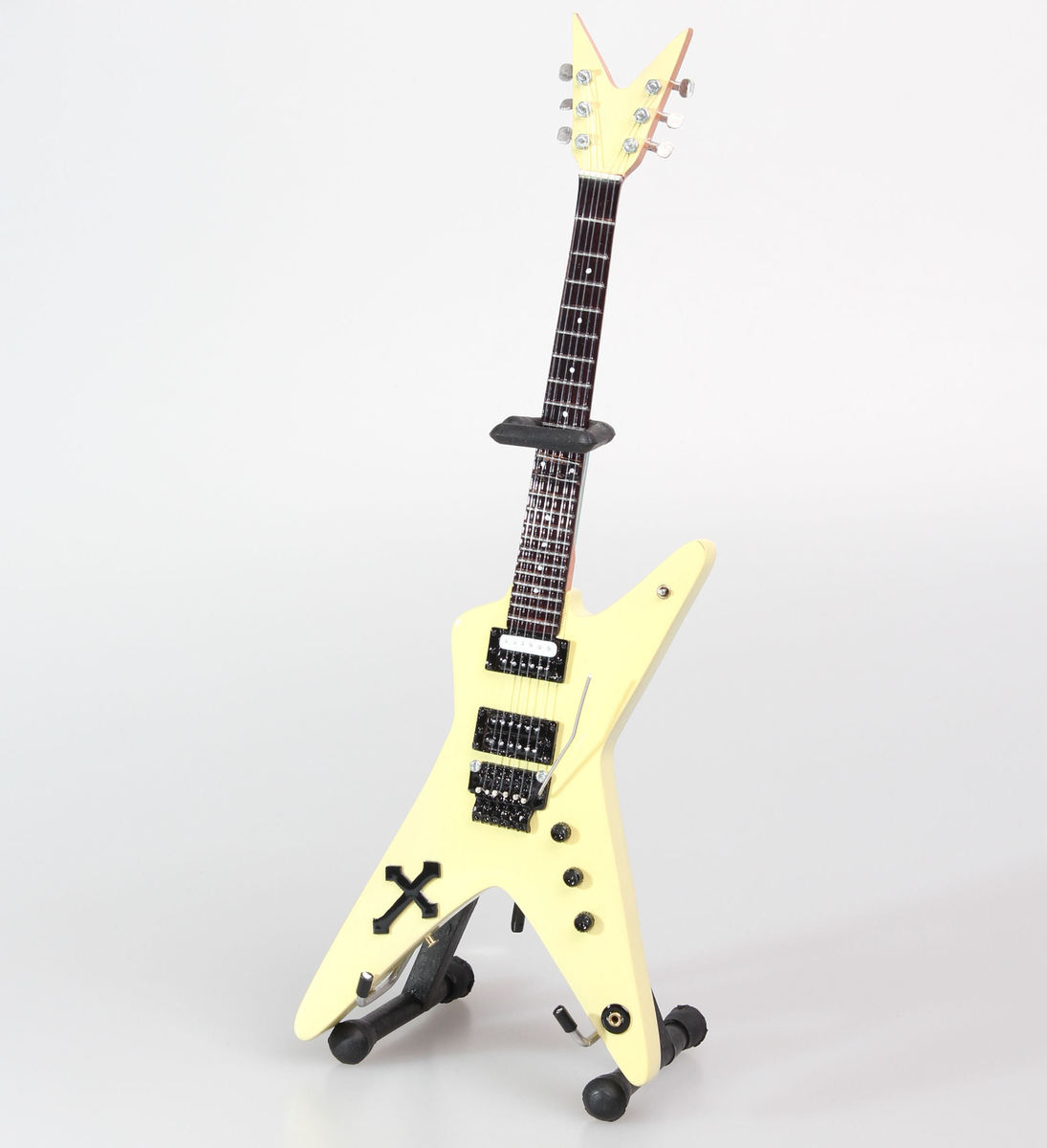 kytara Pantera - Dimebag Darrell - Yellow Cross - MINI GUITAR USA - DD Yellow