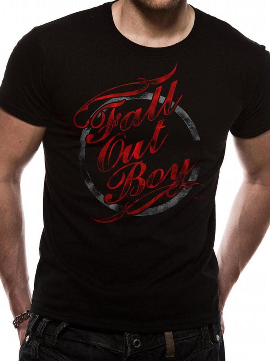 tričko pánské Fall Out Boy - Typography - Black - LIVE NATION - PE10868TSB