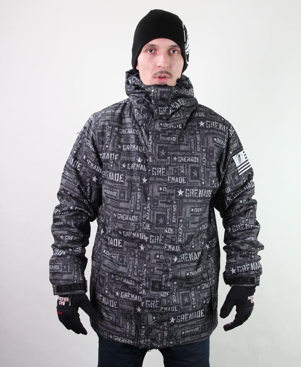 bunda pánská zimní SNB - GRENADE - Task Force - Charcoal