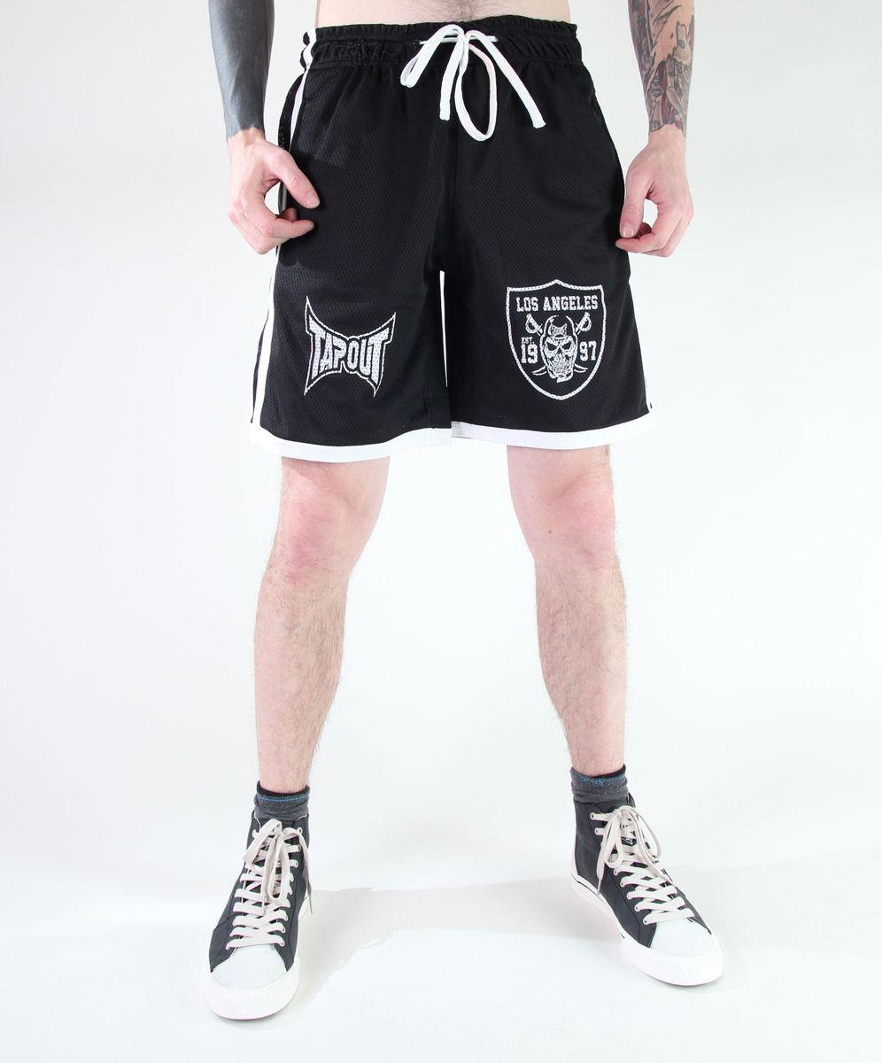 kraťasy pánské TAPOUT - Mesh Shorts - Black