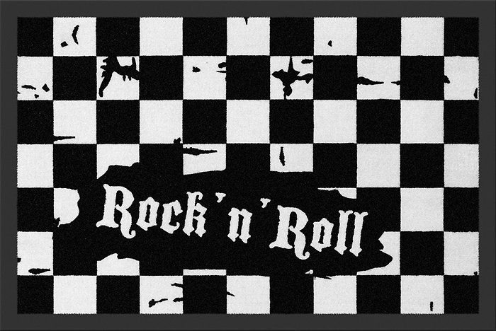 rohožka Checkered - Rock´n´Roll - ROCKBITES - 100688