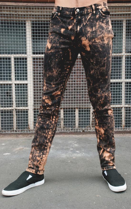kalhoty pánské 3RDAND56th - Acid Wash Skinny - JM1223