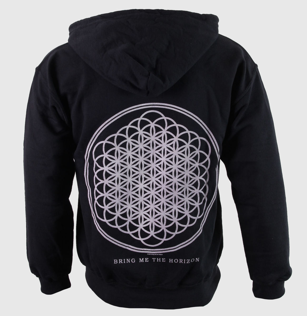mikina pánská Bring Me The Horizon - Flower Of Life Zip - Blk - ROCK OFF - BMTHHD01