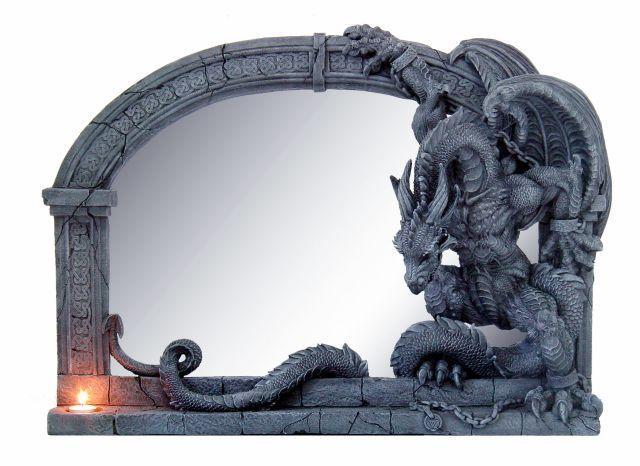 zrcadlo Poly Gothic Dragon - 766-3345