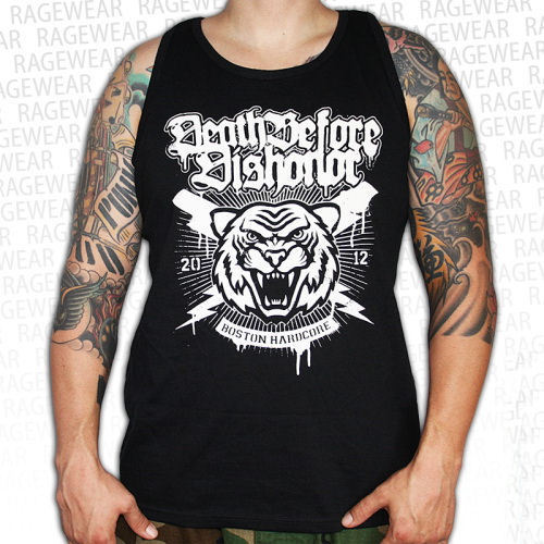 tílko pánské Death Before Dishonor - Tiger - Black - RAGEWEAR - 011TTS42