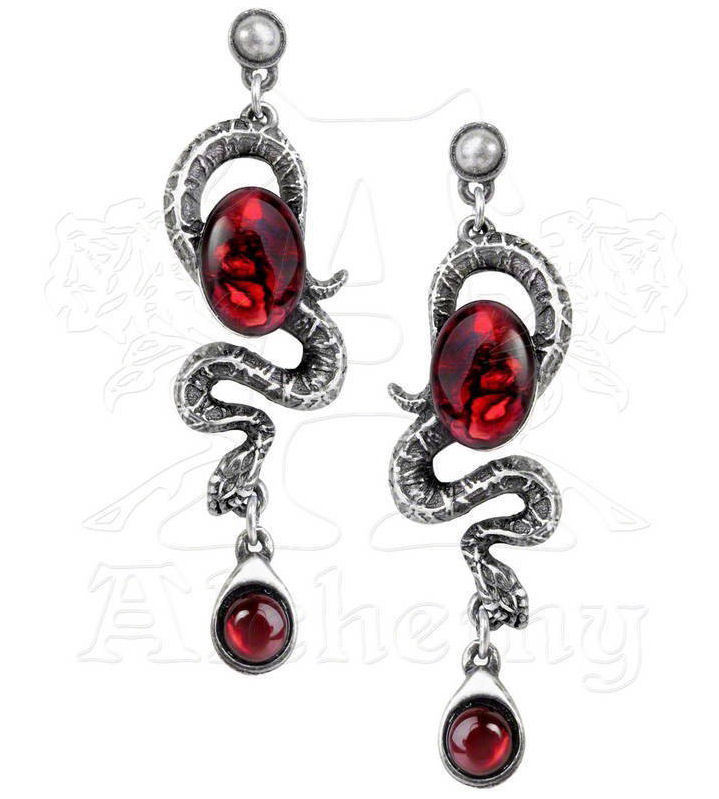 náušnice Serpents Eye - ALCHEMY GOTHIC - E336