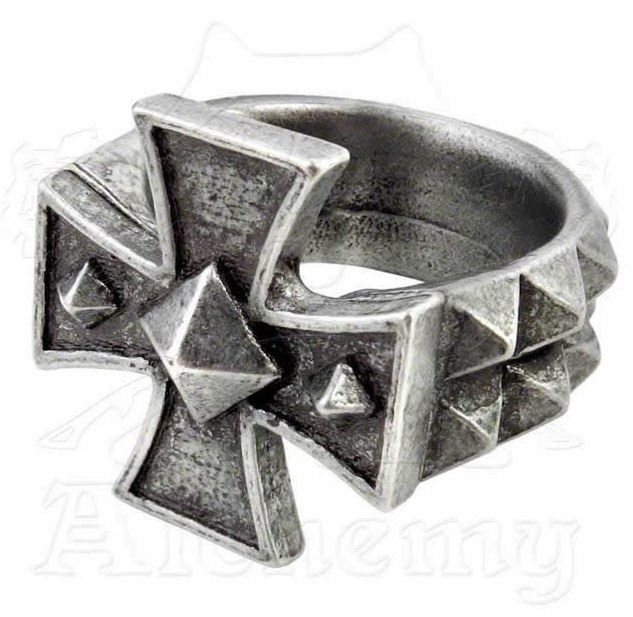 prsten Cross Of Iron - ALCHEMY GOTHIC - R196 Y