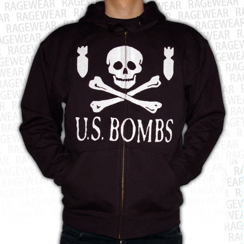 mikina pánská US Bombs - Skulls and Bombs - Black - RAGEWEAR - 030HZS04