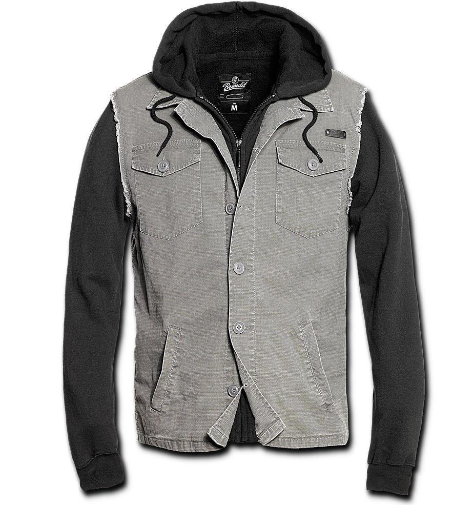 bunda pánská jarně-podzimní BRANDIT - Rock Point - Black/Grey - 3136/78