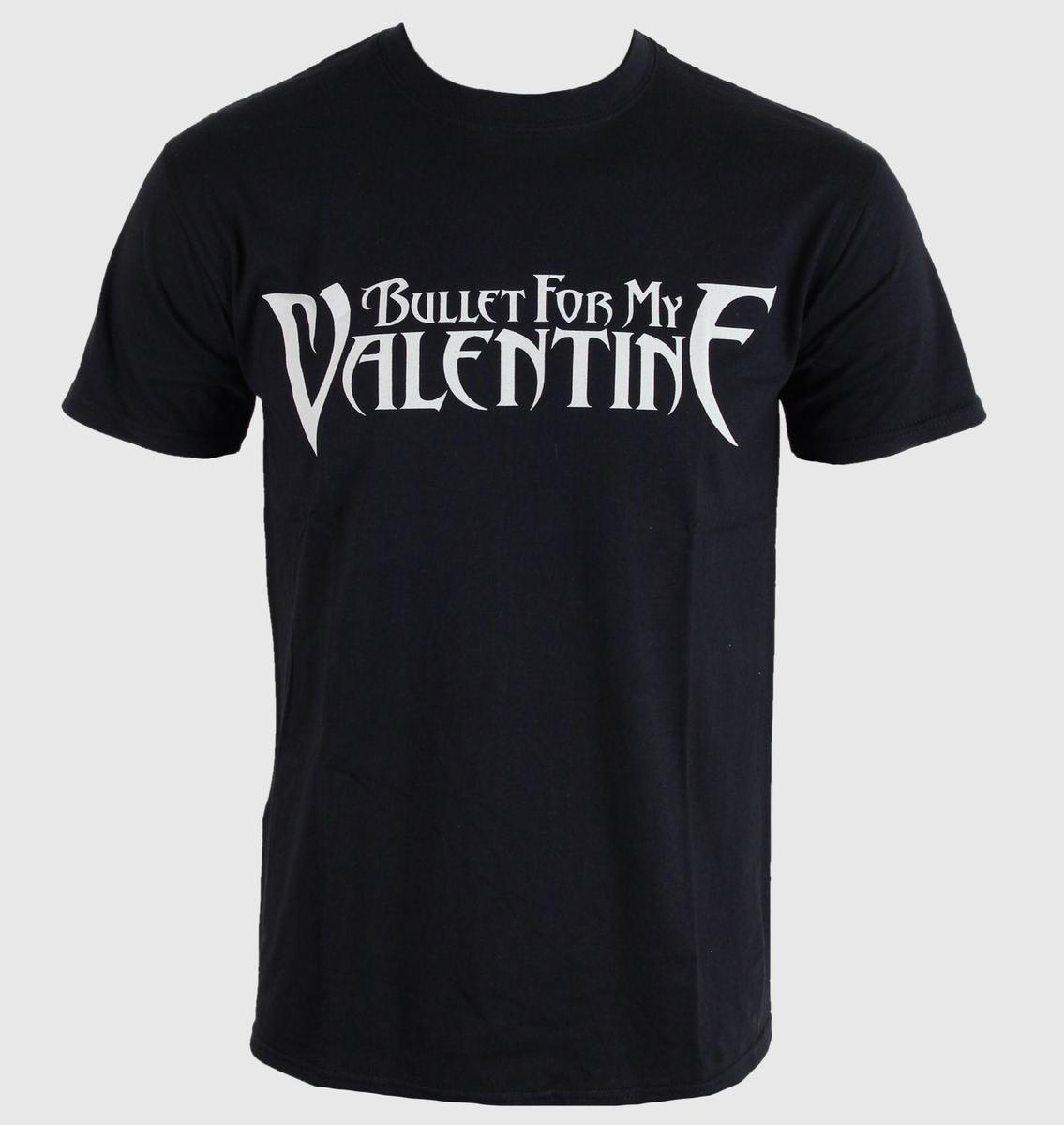 tričko pánské Bullet For My Valentine - Logo - Black - BRAVADO EU - BFMVTS03