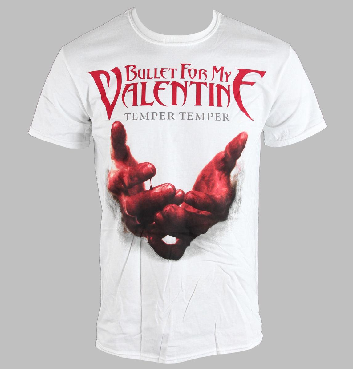 tričko pánské Bullet For My Valentine - Temper Temper Blood Hands - BRAVADO EU - BFMVTS07MW